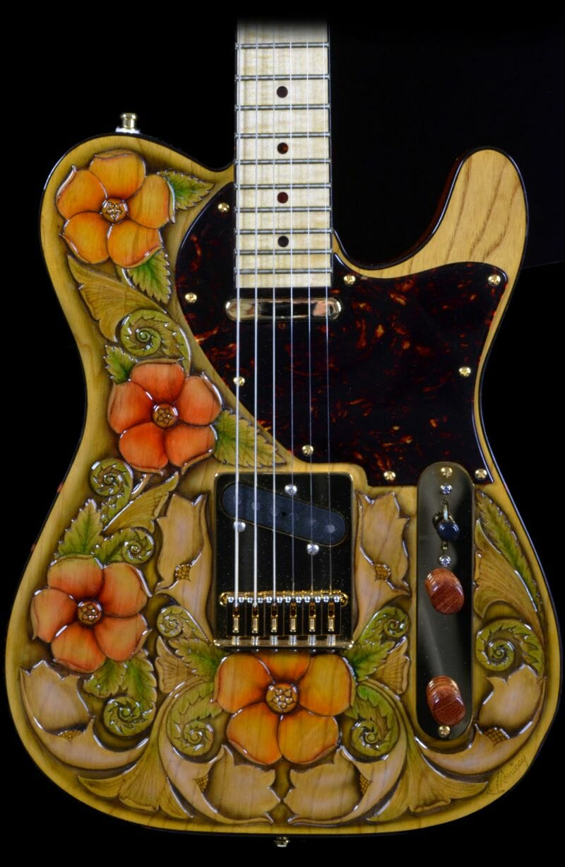 RH Custom Guitar Shop Floral Perfection