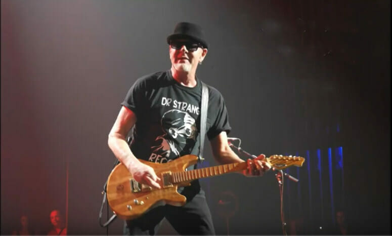 Mark Kendall, with Great White, plays his own RH Custom Guitar live on stage
