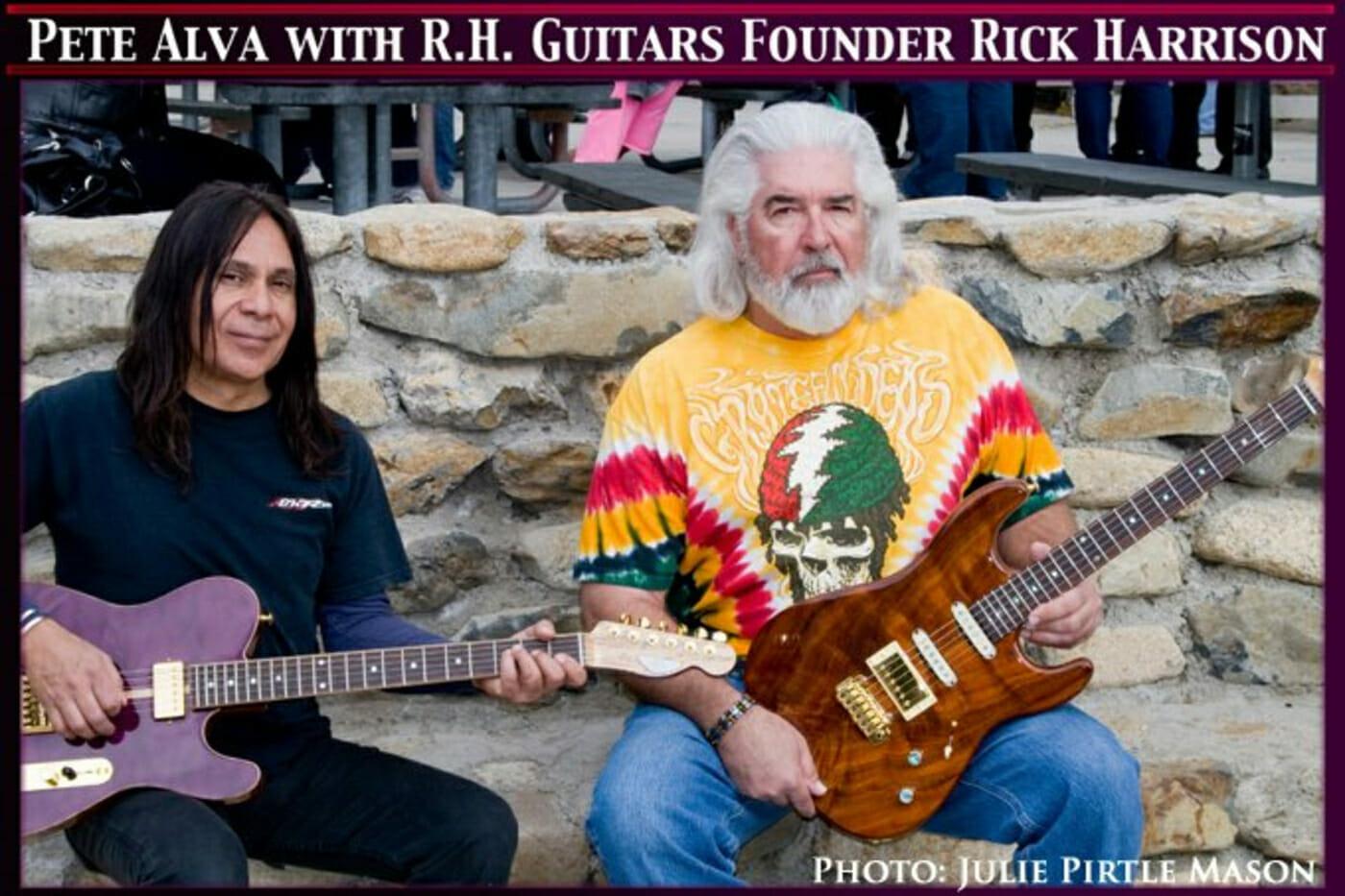 Pete Alva with RH Custom Guitars Founder Rick Harrison